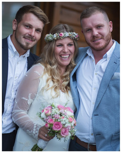 Geschwister auf Hochzeit