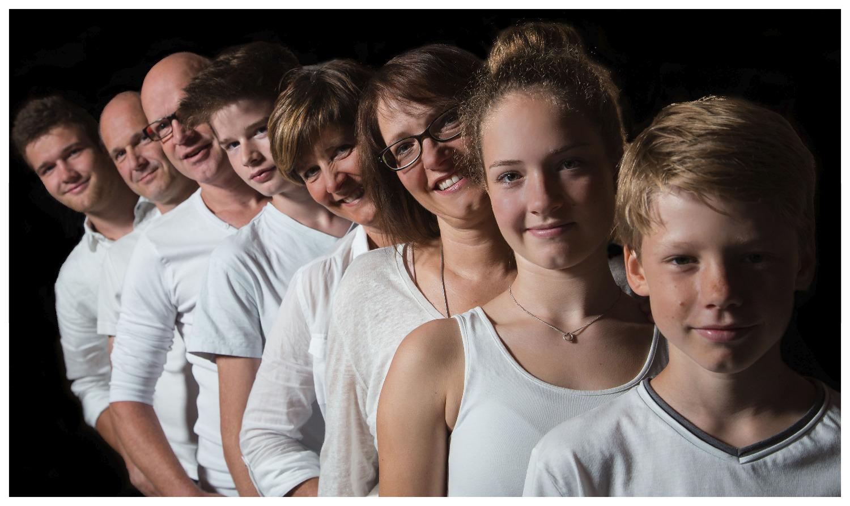 Familien Aufstellung Portrait