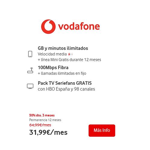 Fibra de 100 Mb + GB y Minutos ilimitados