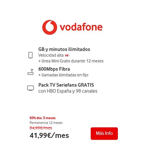 Fibra de 600 Mb + GB y Minutos ilimitados