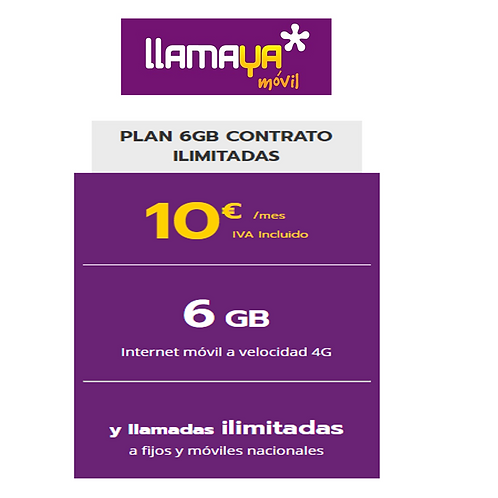 Solo linea - Ilimitada y 6 GB