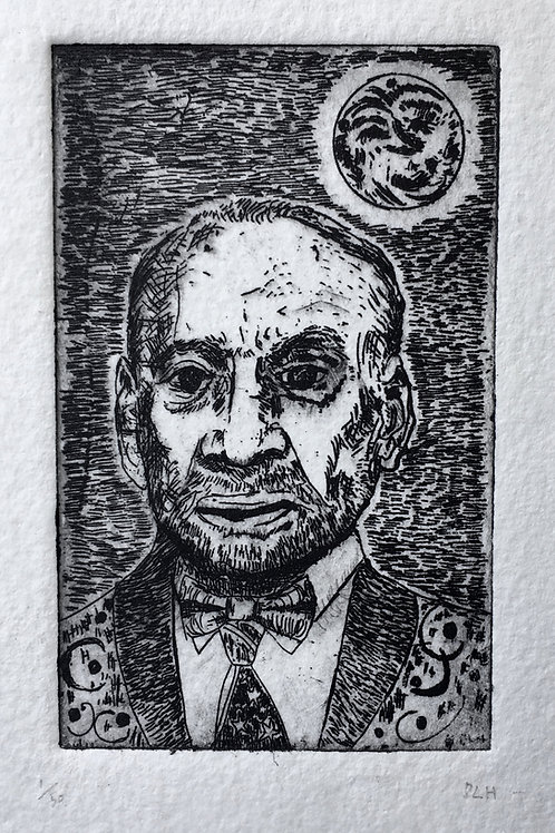 Man and the Moon - Buzz Aldrin etching
