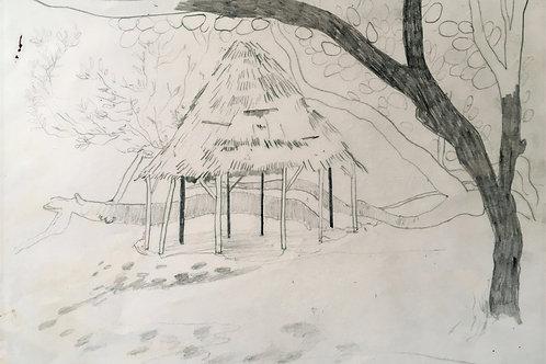 Beach hut study Mustique