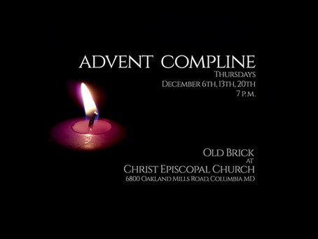 Advent Compline on Thursday Evening