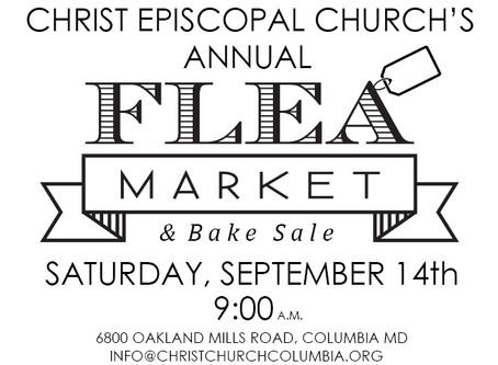 The Christ Church Annual Flea Market is Tomorrow! September 14th @ 9:00 a.m.