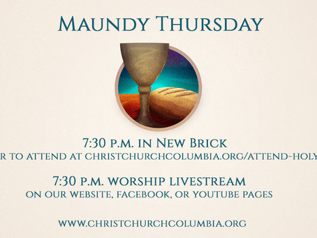 Maundy Thursday at Christ Church