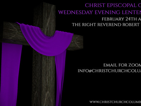 Our Wednesday Evening Lenten Series Begins tonight