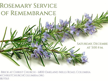 Rosemary Service of Remembrance - Saturday, December 14th