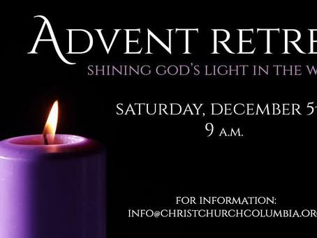 """Shining God's Light in the World"" Advent Retreat - December 5th"