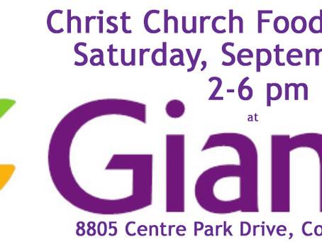 Fall Food Drive - Saturday, September 28th