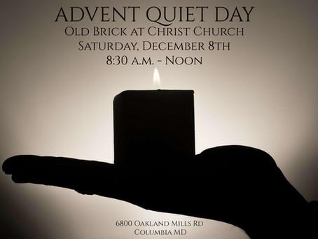 Advent Quiet Day - December 8th