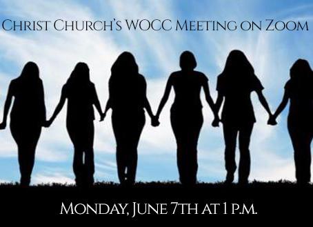 Women of Christ Church's June Meeting - Monday at 1 p.m.