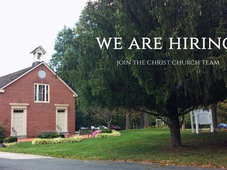 We Are Seeking a Parish Administrator at Christ Church