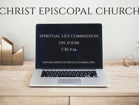 Spiritual Life Commission Meeting - Tonight at 7:30