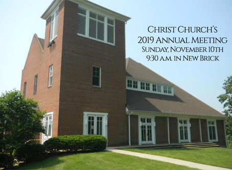 Christ Church's Annual Meeting is Today