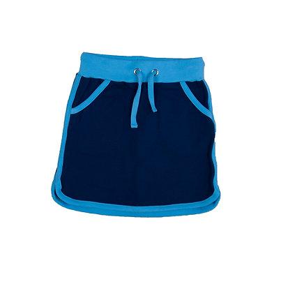 MOROMINI organic Retro Running Skirt   Blue & Light Blue