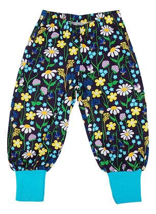 DUNS of Sweden organic Baggy Pants Midsummer Flowers | Purple