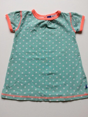 MOLO PreLoved Tunic Dress Turquoise Polka Dots | 86cm