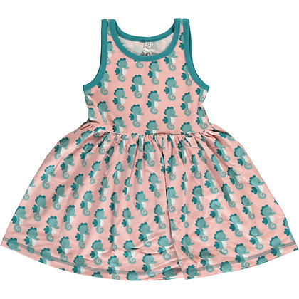 MAXOMORRA organic Sleeveless Dress Spin | Seahorse