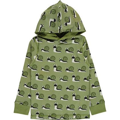 MAXOMORRA organic Long Sleeve Top with Hood   Snail