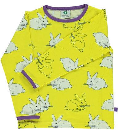 SMAFOLK organic Long Sleeve Top, Rabbit | Maize