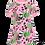 Thumbnail: PaaPii VIOLA organic Short Sleeve Tunic, Peas   Light Pink and Green