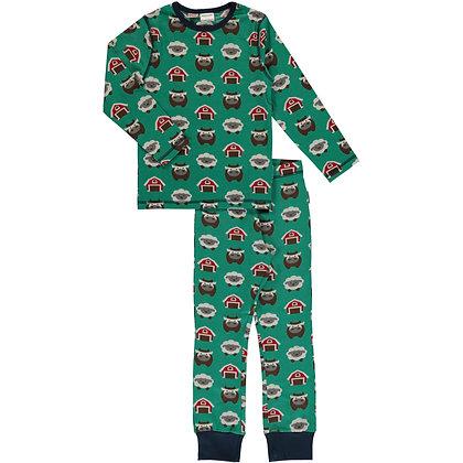 MAXOMORRA organic Pyjama Set Long Sleeve | Farm