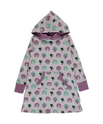 MAXOMORRA organic Long Sleeve Dress with Hood | Park