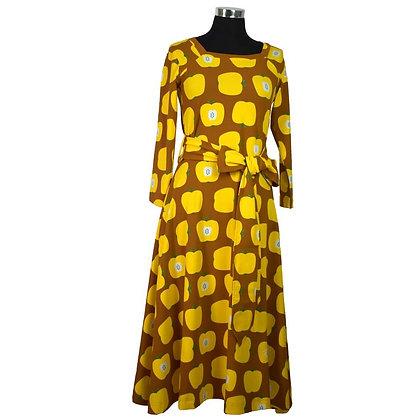MOROMINI Ladies Square Neck Dress | Apple Yellow