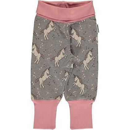 MAXOMORRA organic Rib Pants Sweat | Unicorn Dreams