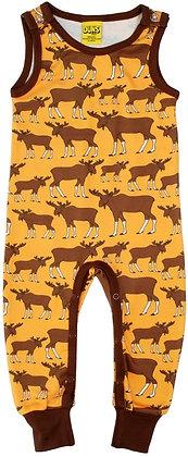 DUNS Sweden organic Dungarees Moose | Mustard Yellow