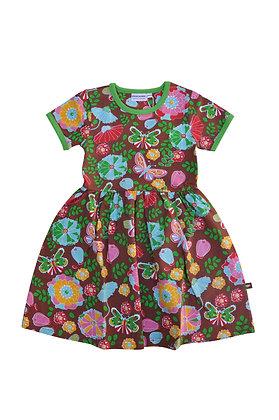 MOROMINI organic Short Sleeve Dress | Flower Power