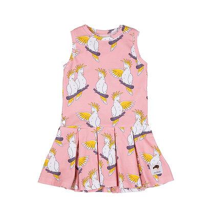 MULLIDO organic Tennis Style Dress   Pink Cockatoo