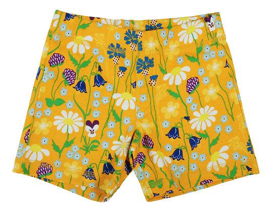 DUNS of Sweden organic Shorts Midsummer Flowers   Yellow