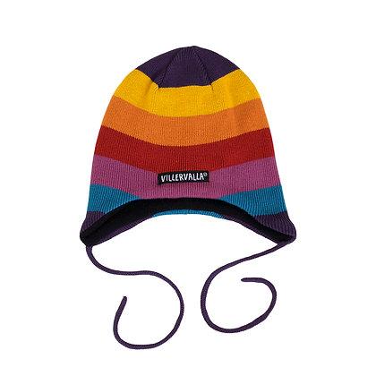 VILLERVALLA Hat with String (Fleece Lined) | Multistripe Valley