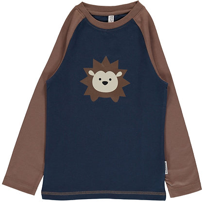 MAXOMORRA organic Long Sleeve Top Print | Hedgehog