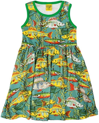 DUNS Sweden organic Sleeveless Dress Seaweed | Teal