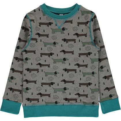 MAXOMORRA organic Sweatshirt | Dotted puppy