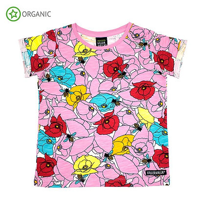 VILLERVALLA organic Short Sleeve Top Poppy | Azalea