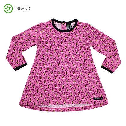 VILLERVALLA organic Long Sleeve Tunic   Flamingo