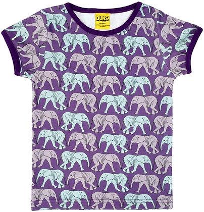 DUNS Sweden organic Short Sleeve Top Elephant Walk   Purple
