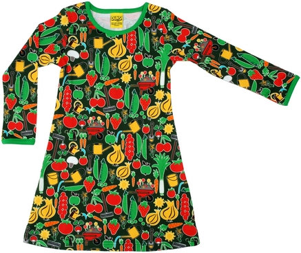 DUNS Sweden organic Long Sleeve Dress Parklife   Green