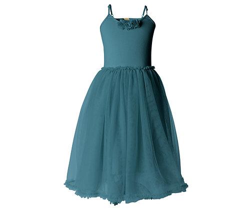 MAILEG Ballerina Dress, 6-8 years | Petrol