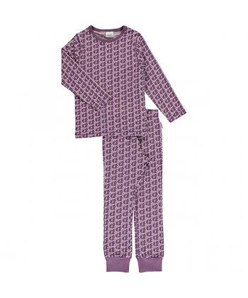 MAXOMORRA organic Pyjama Set Long Sleeve   Squirrel