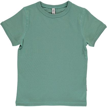MAXOMORRA organic Short Sleeve Top | Pale Army