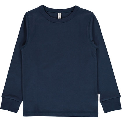 MAXOMORRA organic Long Sleeve Top | Dark Blue