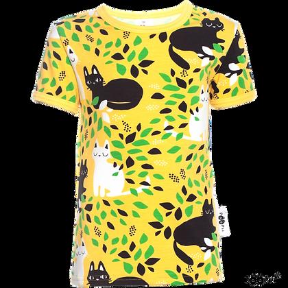 PaaPii VISA organic Short Sleeve Top Hide and Seek | Yellow and Green