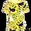 Thumbnail: PaaPii VISA organic Short Sleeve Top Hide and Seek | Yellow and Green