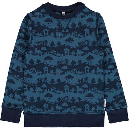 MAXOMORRA organic Sweatshirt   Blue Landscape