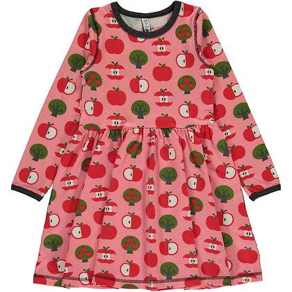 MAXOMORRA organic Long Sleeve Dress Spin | Apple